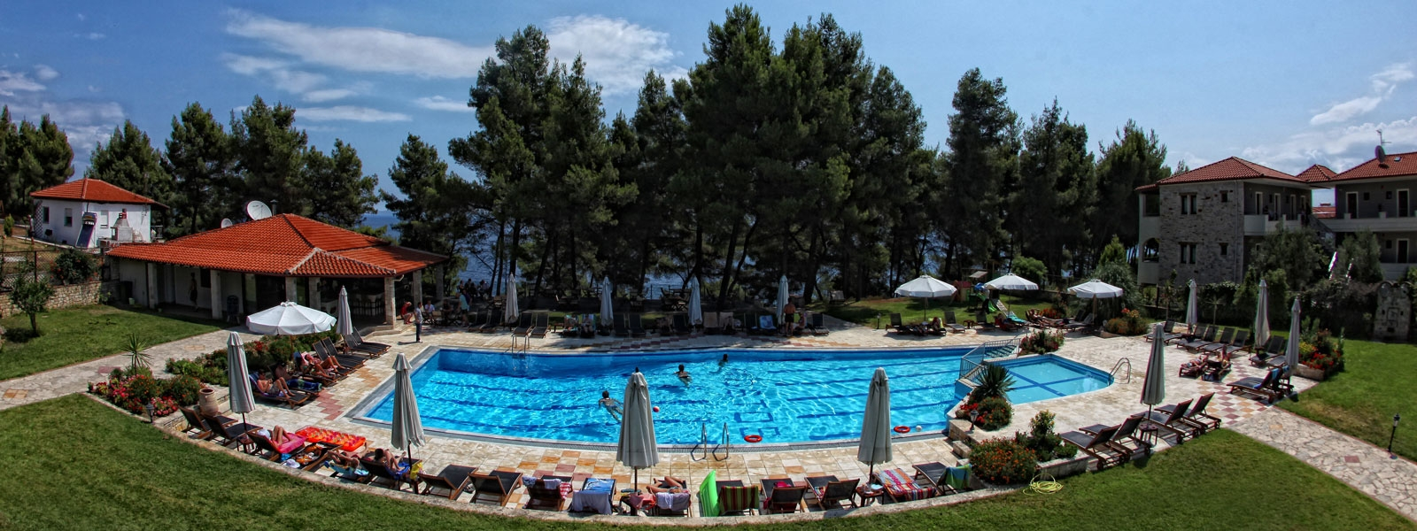 Nostos Hotel, Afitos, restaurants, bars, night life, pool, cafes, Chalkidiki